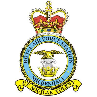 RAf mildienhall  sufflok england badge of the base my dad works at